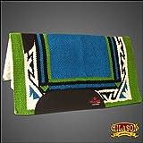 HILASON Made in USA fe222 Western Wolle Schock Buster Sattel Decke Pad Türkis