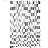 Bishilin Bad Vorhang für Badezimmer Streifen Anti-Schimmel Duschvorhang 180x200 cm