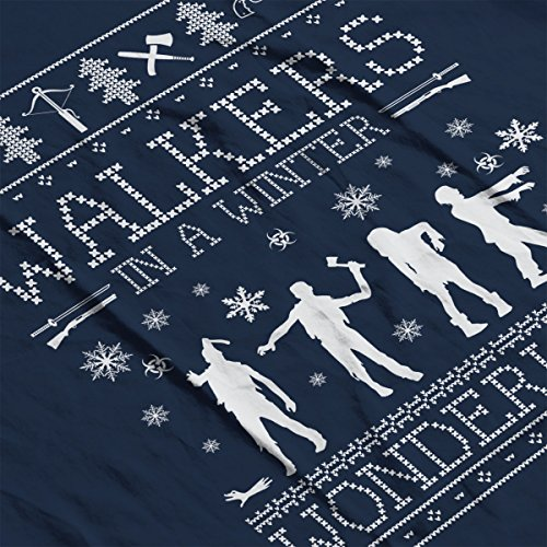 Walkers In A Winter Wonderland Christmas Knit Men's Vest Navy Blue