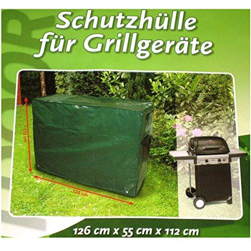 witterungsbeständige Schutzhülle für Grillgeräte - Gartengeräte etc. Abdeckhaube Abdeckung Plane 126 x 55 x 112 cm