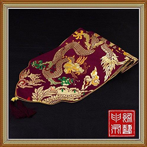 LINA-Il cinese classico tavolo bandiera Cina vento oltre i tavoli da pranzo asciugamano Tavolo riposizionato wedding Home tessuto ,33*200cm,vino rosso