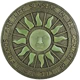 Glow in the Dark Trittstein Sonne Mond Sterne Pflastersteine Sonnendeck Ornament Plaque