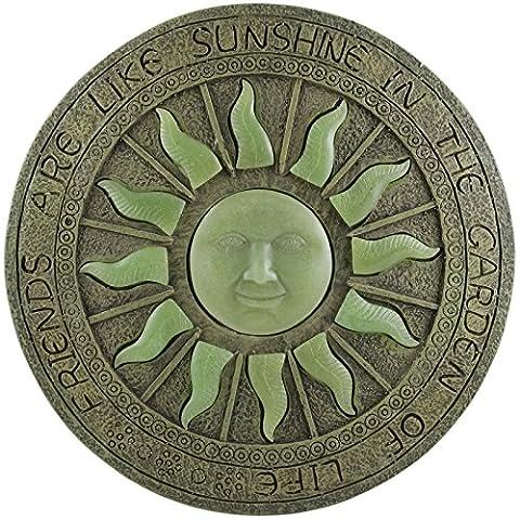 Glow in the Dark Trittstein Sonne Mond Sterne Pflastersteine Sonnendeck Ornament Plaque