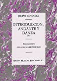 from Music Sales Julian Menendez: Introduccion Andante Y Danza Clarinet and Piano