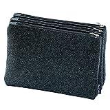 Taschenorganizer - Vegane Bag in Bag - Handtaschenordner - Tascheneinsatz mit drei abknöpfbaren Fächern - Filz - Dunkelgrau