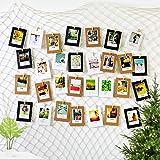 Foto hängende Wanddekoration Collage DIY Bilderrahmen Wanddekoration, 200 x 100 cm Fischernetz mit 40 Holzklammern und 10 spurlosen Nägeln Fotoaufhängung
