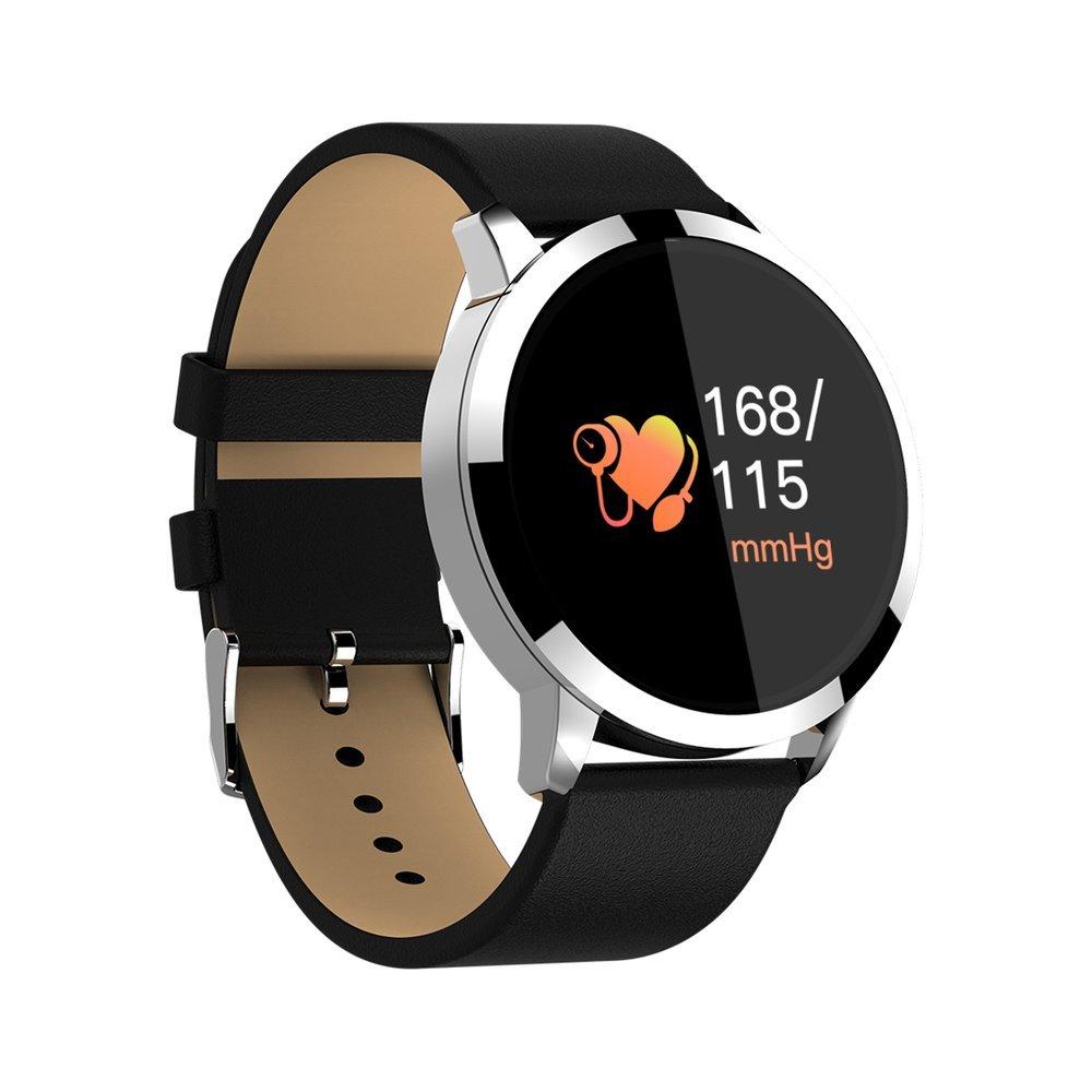Erduo OUKITEL W1 Smart Watch Waterproof IP67 Heart Rate Monitoring Blood Pressure Oxygen Bluetooth Anti-lost Sports Watch – Black Silver