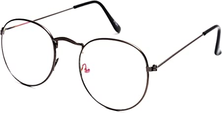 TheWhoop Black Frame Eyeglasses Night Vision Round Unisex Sunglasses