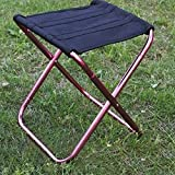 #9: Ultra Light Mini Folding Chair,Outdoor Portable Seat Stool with Storage Bag for Camping Hiking Fishing Gardening by Leoie