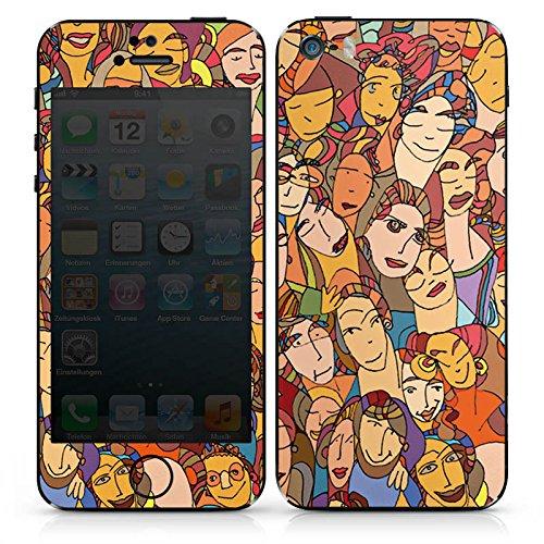 Apple iPhone 5 Case Skin Sticker aus Vinyl-Folie Aufkleber Gesichter Augen Geschichten DesignSkins® glänzend