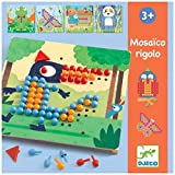 Djeco Aktionspiele und Reflexionsspiele Lernspiele Mosai rigolo, Mehrfarbig (15)