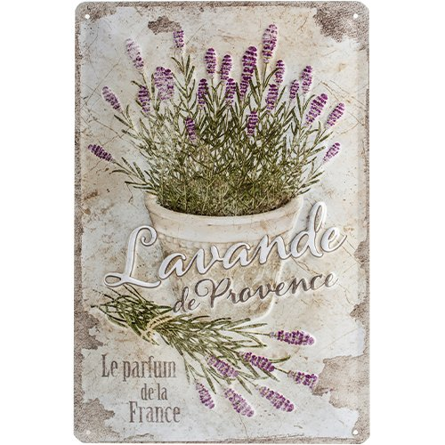 Nostalgic-Art 22200 Home & Country - Lavande de Provence, Blechschild 20x30 cm Country Vintage Home Decor