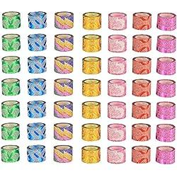 Cinta de Arte Uñas, Nail Tape 50 rollos, para Decoración de Rayas de Arte de Uñas