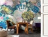 Komar 8-941 368 x 254 cm,'fiori-Maglietta motivo' Carta da parati/murale, multicolore (Confezione da 8)