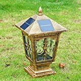 OSY Kontinentale Outdoor-Gartenmauer Lichter/Garten Beleuchtung/Super helle solar Post Lichter/leuchten/Säule Wandleuchte
