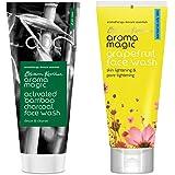 Aroma Magic Face Wash 100 ml (Charcoal) And Aroma Magic Grapefruit Face Wash, 100ml