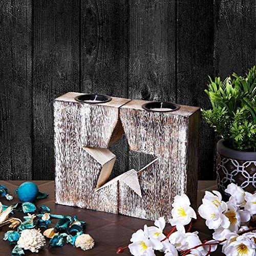 Preisvergleich Produktbild Holz Teelichthalter für Wohnkultur - Mango Holz