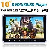 prettygood7 Monitor Wasserdicht HDMI 10,1 Zoll HD Digital LCD Tragbarer DVD Player mit zusätzlichem Bildschirm Panel Externe Display Neue Universal Auto Kopfstütze Monitor USB/SD Player IR/FM