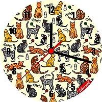 Selina-Jayne gatti Edizione limitata Orologio da parete in vetro