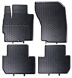 Tapis de sol sur mesure pour 1199168210011 set de 4 tapis de voiture noir