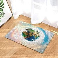 Yinyinchao Earth Planet Decor, Schöne Erde In Den Blauen Himmel Badteppiche  Für Badezimmer, Rutschfeste