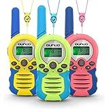 OUNUO Walkie Talkie para niños 3pcs, 8 Canales Radio de 2 vías, Juguetes, Rango de 3 Millas para Actividades Infantiles, 3 Co