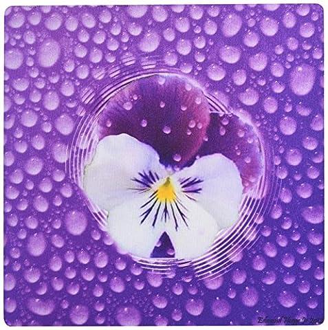 3drose Morning Mist et violet Pansy–Mouse Pad, 8by 20,3cm (MP _ 46510_ 1)