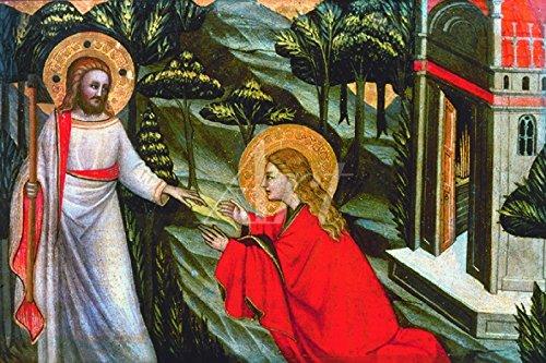Artland Wandbild auf Alu-Verbundplatte Giovanni da Milano Er spricht zu ihr, berühre mich nicht...