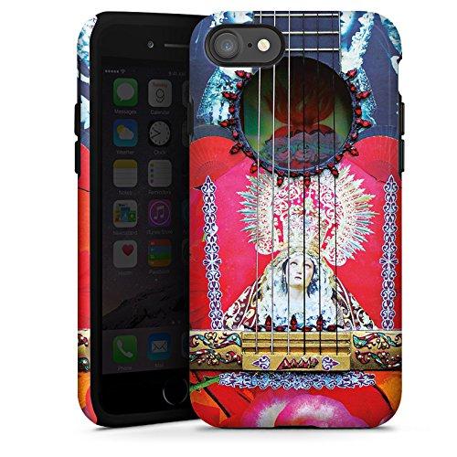 Apple iPhone X Silikon Hülle Case Schutzhülle Gitarre Rot Spanien Tough Case glänzend