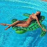 WLWWY Riesige Aufblasbare Grüne Schildkröten-Halterungen, Leben Boje, Swimmingpool Im Freien Floatie Float Lounge Spielzeug Bett mit Schnellventilen Für Erwachsene, Kinder (Pumpe Inflator),B