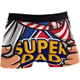 JIRT Slip da Uomo Boxer Dad Is My Supereroe Biancheria Intima da Uomo Tronches Stretch Traspirante Morbido Pouch Soft Underpa