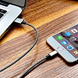 Shadow Securitronics Apple MFi Certified 3ft Long Nylon Braided Original Tough Lightning Cable For IPhone, IPad And IPod, Super Fast Charging Up To 2.4Amps
