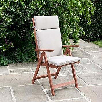 BillyOh Deluxe Garden Recliner Chair Cushions (Natural): Amazon.co.uk:  Garden U0026 Outdoors