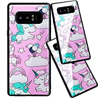 Samsung Note 8 TPU Case,Ultra Thin Transparent Clear Flexible Silicone Cover for Samsung Galaxy Note 8,Case for Samsung Note 8,Funny Cute 3D Romantic Flower Animal Cartoon Design Printed Drawing Pattern Soft TPU Bumper Protective Back Cover Case for Samsu