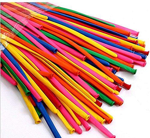 ccinee 200pcs/lot Mezclar Color Globo Decoración de la boda fiesta de cumpleaños Magic Ballons surtidos Látex Largo Globos