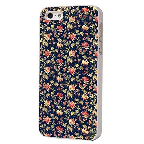 iphone 5C Vintage Shabby Chic Floral Roses Fleurs Funky Design Fashion Trend Cover Coque arriere Coque Case-Plastique et métal