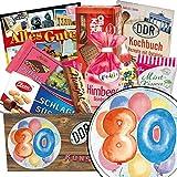 80. Geburtstag Geschenk - Süße DDR Waren mit Geschenkbox | Geschenk Set