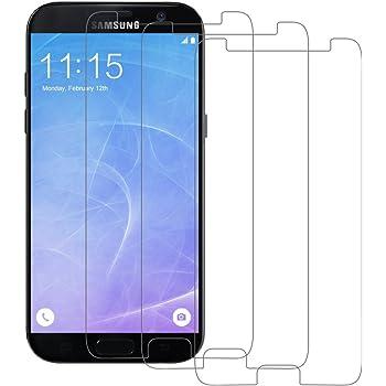 3 Pack Pellicola Vetro Temperato Samsung A5 2017, POOPHUNS Samsung A5 2017 Pellicola Protettiva(0,3mm HD Alta trasparente), Galaxy A5 2017 Protezione Schermo Trasparente ultra resistente,Vetro Temperato Screen Protector(Bordi Arrotondati da 2.5D)per A5 2017