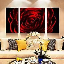 puro paesaggio in alluminio lucidato a mano, della pittura del metallo,murale decorativo, decorazioni per la casa-Red Rose 23.6×47.2 pollice