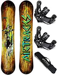 AIRTRACKS SNOWBOARD SET - TABLA WILD WIDE 165 - FIJACIONES SAVAGE L - BAG/ NUEVO
