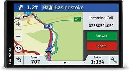 Garmin DriveSmart 61 LMT-D EU Navigationsgerät  (17,65 cm (6,95 Zoll) rahmenloses Touchdisplay, Europa (Traffic via DAB+ oder Smartphone Link)  lebenslang Kartenupdates & Verkehrsinfos, Smart Notifications)