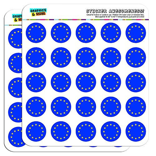 National Union (EU European Union Europe National Country Flag 1 Scrapbooking Crafting Stickers by Graphics and More)