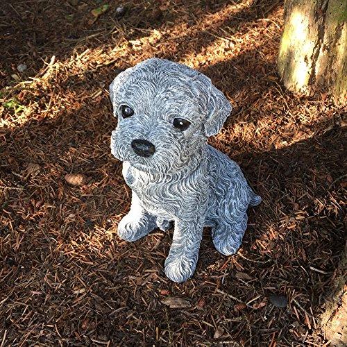 Antikas - Niedliche Hunde Figuren Malteser Welpe - Tiere Dekoration Tierfiguren frostfest (Malteser Hund Figur)