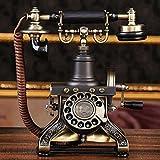 Wddwarmhome Telefoni mobili rotanti di moda di moda Telefoni pastorali retrò Telefono fisso di telefonia domestica - nera - Wddwarmhome - amazon.it