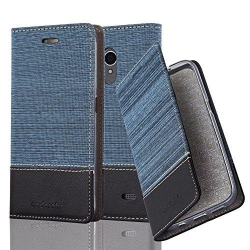 Cadorabo Funda Libro ZTE Blade A520 Azul Oscuro Negro