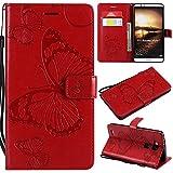 Janeqi Cover Huawei Ascend Mate 7 - Fondina Anti-Caduta per Telefono Cellulare Case Cover per Huawei Ascend Mate 7 [HD6/Rosso]