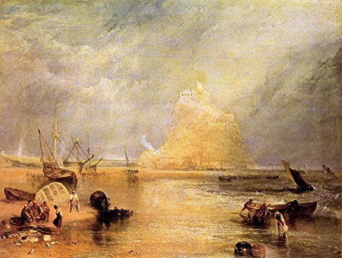 The Museum Outlet–St. Michaels Mount, Cornwall by Joseph Mallord Turner–A3Poster