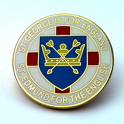 st-edmund-for-the-english-lapel-badge-white-england-anglo-saxon-uk-seller