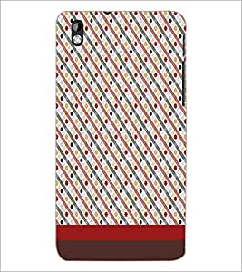 PrintDhaba Pattern D-1851 Back Case Cover for HTC DESIRE 816 (Multi-Coloured)