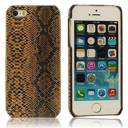 Original Conception Imité Peau De Serpent iPhone 5 coque, Protecteur Housse Étui Case Cover Pour iPhone 5 5S 5G, Mince Léger Gel Cover, Rigid A